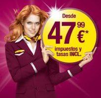 Germanwings pone a la venta billetes a 47,99 € todo incluido