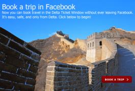 Delta Airlines permite reservar sus vuelos desde Facebook