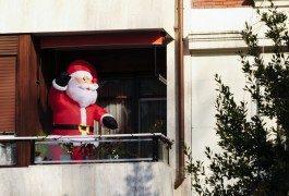 Santa Claus y el viaje en trineo