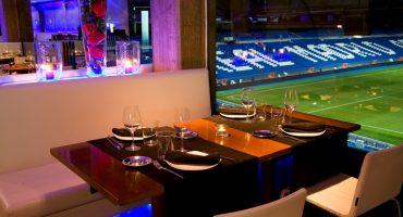 Comiendo con las mejores vistas al estadio Santiago Bernabeu