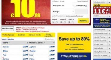 Ryanair y el cierre de web durante 24 horas