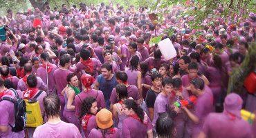 La batalla del vino en la Rioja