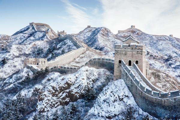 Gran Muralla China bajo la nieve