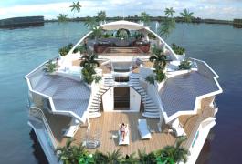 De vacaciones en una isla flotante… y de lujo