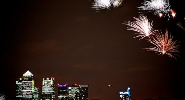 Londres celebra su noche de fuego