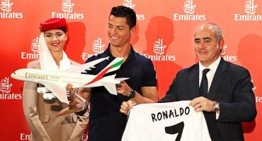 La delantera de Emirates: ¡Cristiano Ronaldo y Pelé!