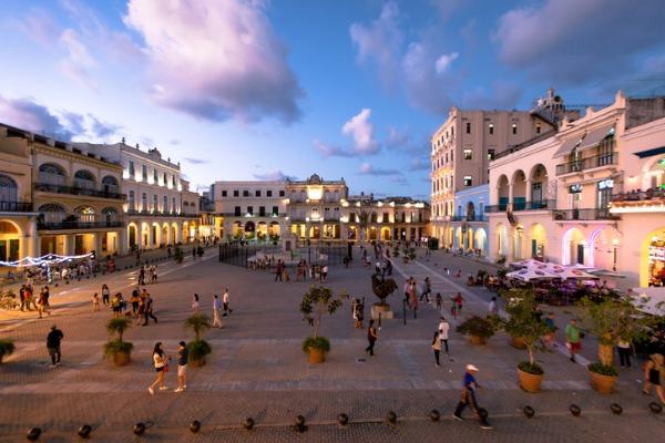 Plaza Vieja, en La Habana (Cuba)