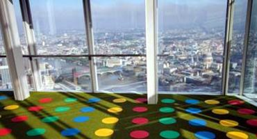 ¿Te apetece jugar al Twister en el Shard de Londres?