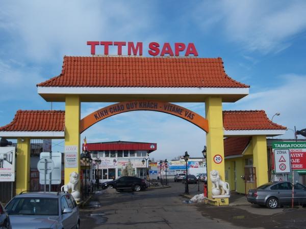 Mercado vietnamita en Praga