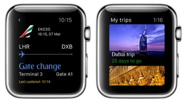 La app de Emirates para Apple Watch
