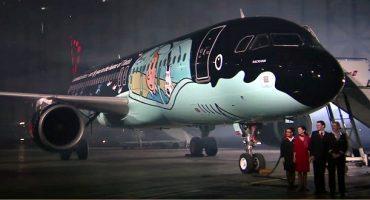 El avión Tintín de Brussels Airlines