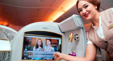 Mira YouTube a bordo de Emirates