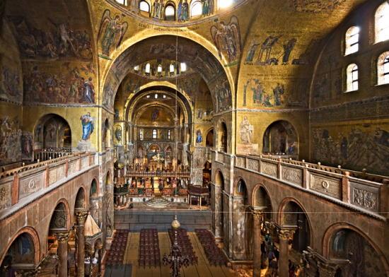 Interior de la Basílica de San Marcos (Venecia)