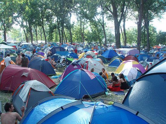 acampada en Exit