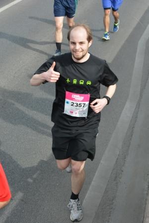 Csaba en el medio maratón de Budapest
