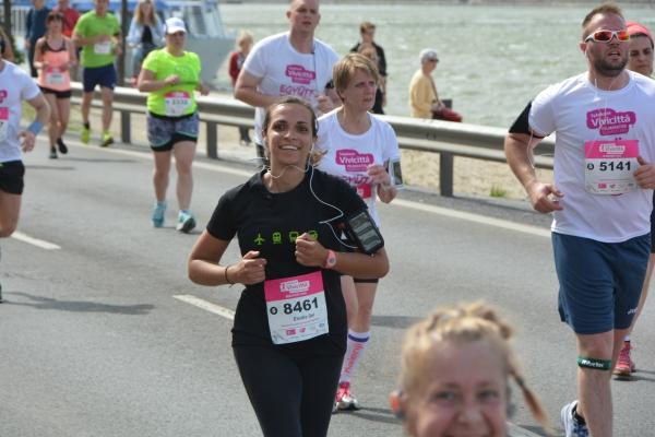 Elodie en el Medio Maratón de Budapest