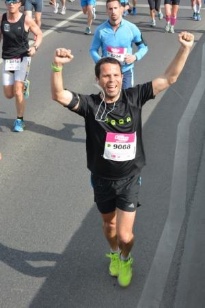 Mario en el medio maratón de Budapest