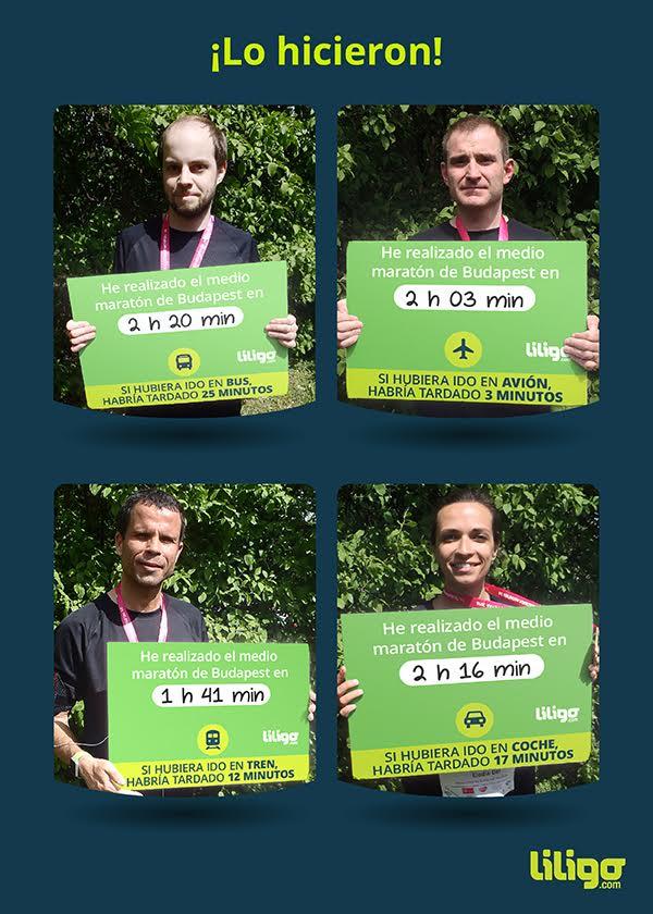 Resultados de los participantes en el medio maratón de Budapest