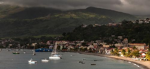 Ciudad de Saint Pierre en Martinica