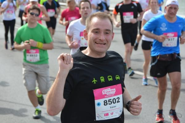 Xavier en el medio maratón de Budapest