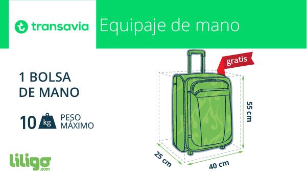 Equipaje de mano con Transavia