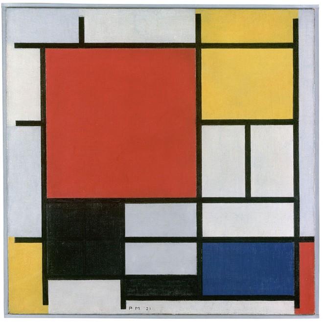 Una de las obras del artista holandés Piet Mondrian