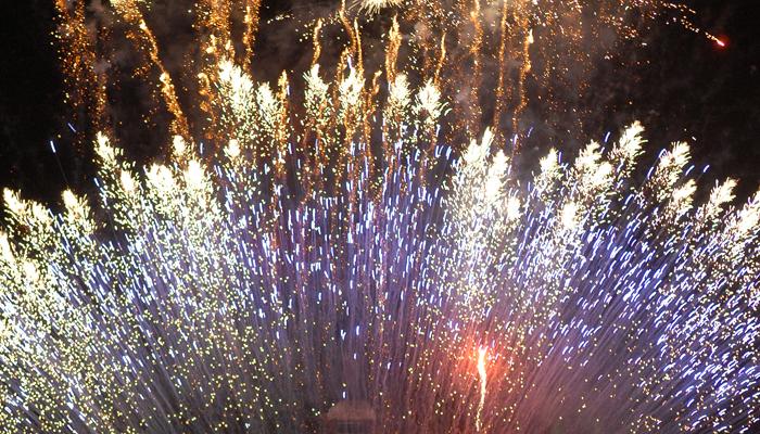 Espectáculo de pirotecnia que pone punto final a las fiestas de San Isidro