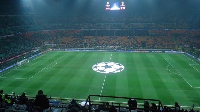 Interior de San Siro en la final de la Champions 2001