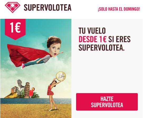 Promoción Supervolotea: vuelos desde 1 €