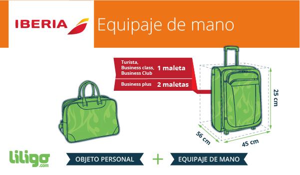 Política de equipajes de Iberia con el equipaje de mano