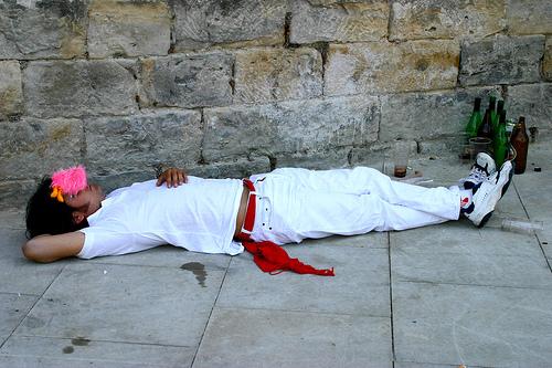 Durmiendo en San Fermín