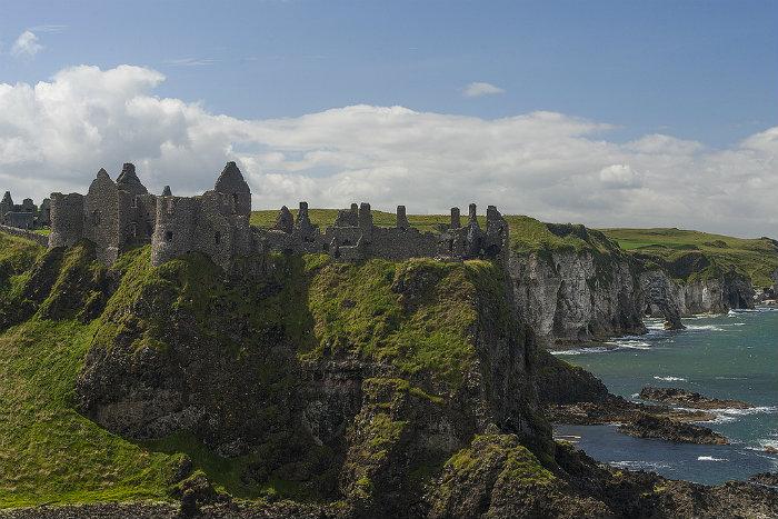 Castillo de Dunluce en el Condado de Antrim