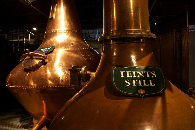 Interior de la destilería del whisky irlandés Jameson