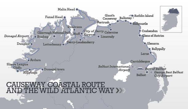 Itinerario de la Causeway Coastal Route en Irlanda del Norte