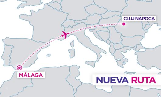 Ruta Málaga - Cluj Napoca