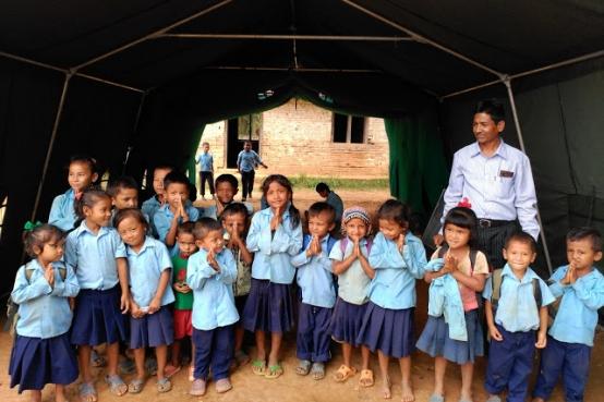 Escuela en el Distrito de Gorkha (Nepal)