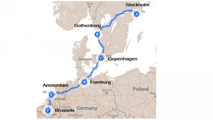"Ruta ""Europa del Norte en bicicleta"""