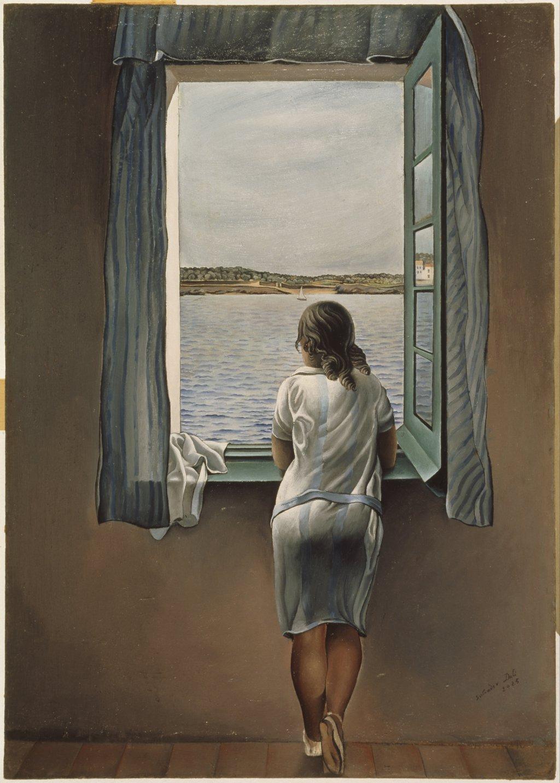 Muchacha en la ventana, de Dalí
