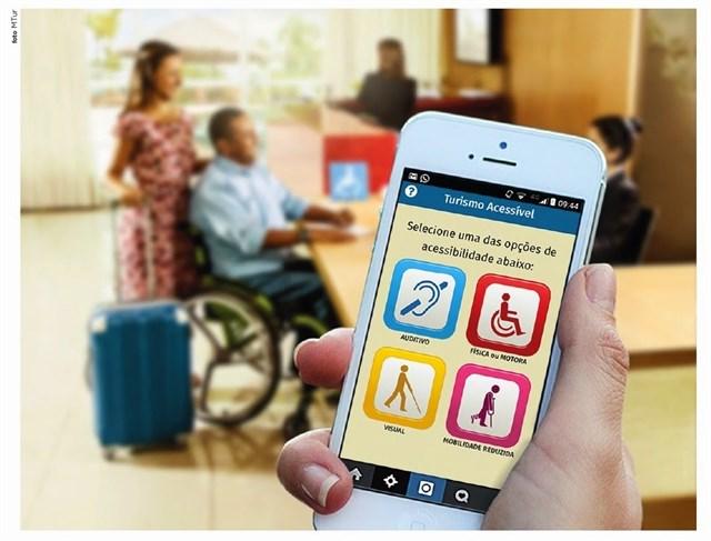 App de turismo accesible creada por el Ministerio de Turismo de Brasil