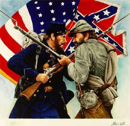 Soldado unionista y confederado