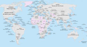 Así se venden a sí mismos los países: el mapa de los eslóganes turísticos del mundo