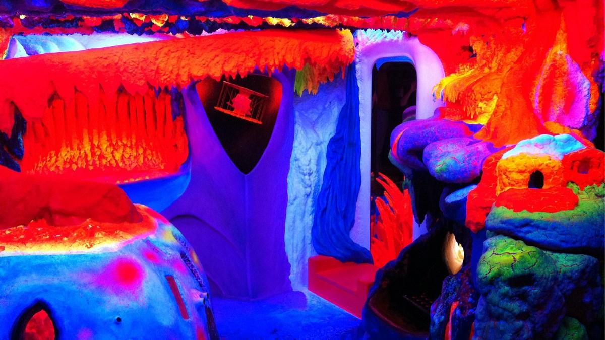 El museo de arte fluorescente en Ámsterdam