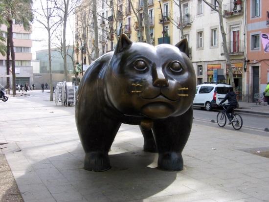 gato_rambla_Barcelona_Botero