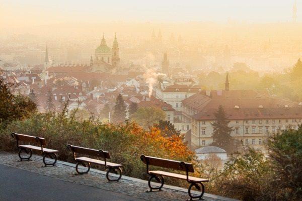 Vistas de Praga desde la colina Petrin