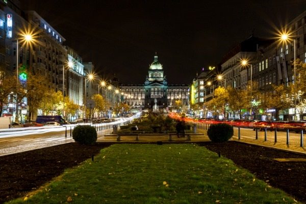 Plaza de Wenceslao, en Praga