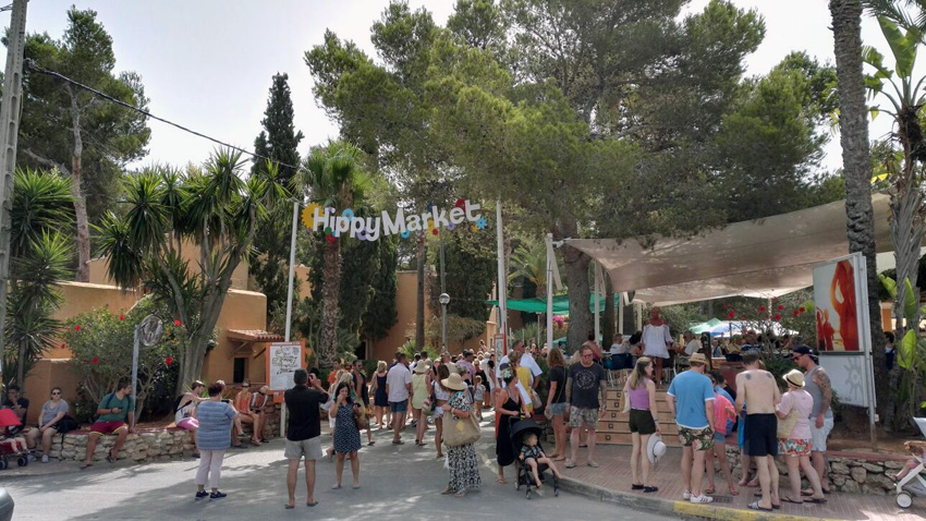 Mercadillo hippy en Ibiza