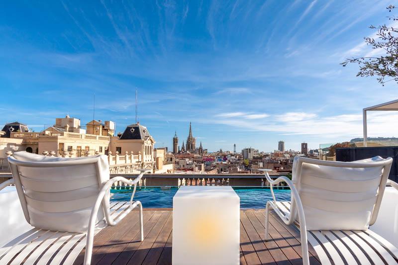 Rooftop del Hotel Ohla, en Barcelona