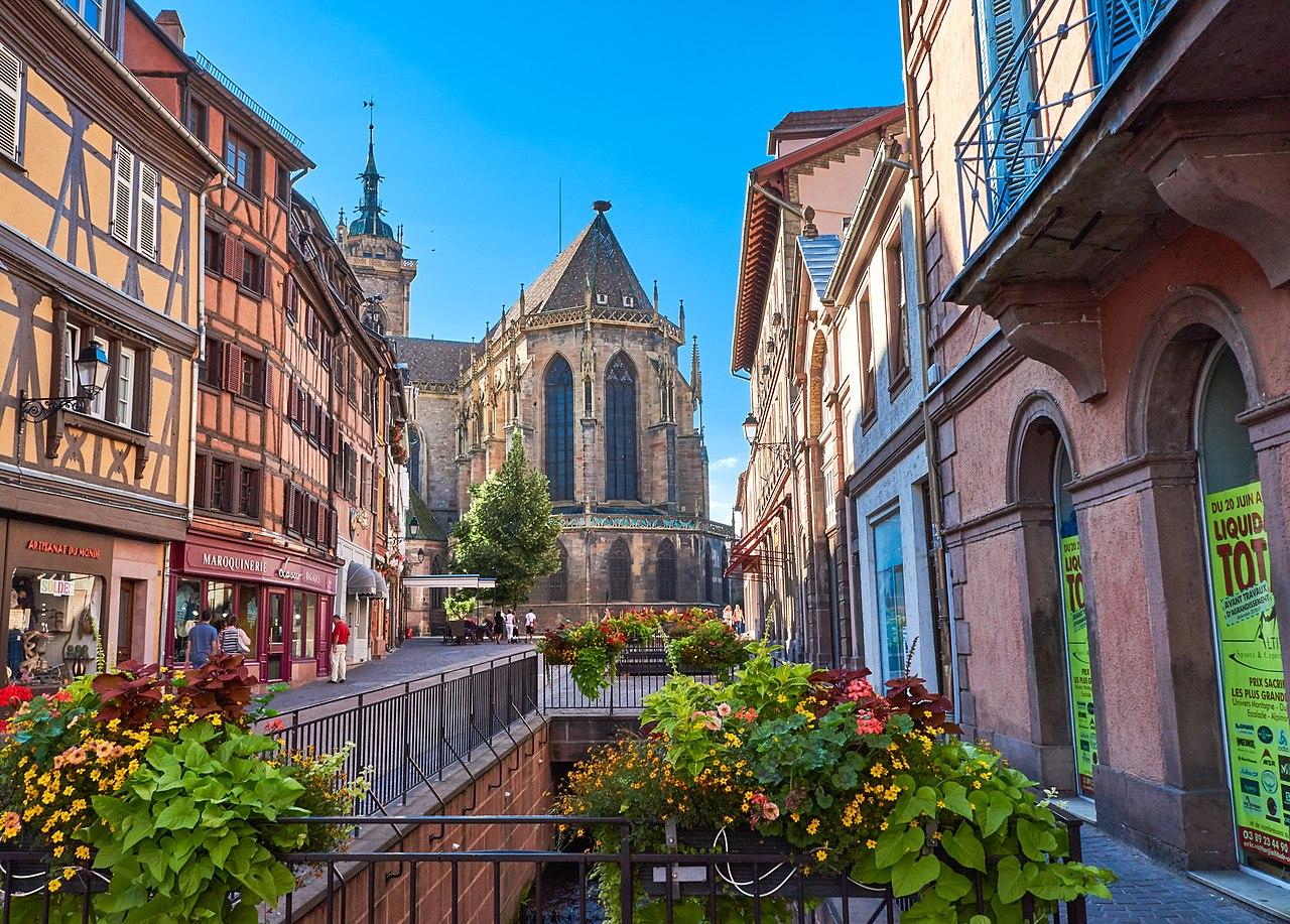 Colmar, en la región de Alsacia (Francia)