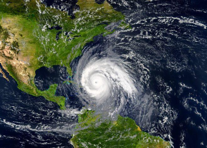 Huracán en el Caribe