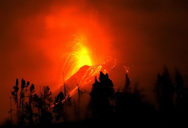 Volcán Tunguragua, en Ecuador